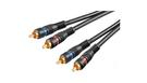 Cavo Audio Professionale 2 mt. 2 RCA - 2 RCA