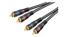 Cavo Audio Professionale 5 mt. 2 RCA - 2 RCA