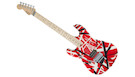 EVH Striped Series LH R/B/W MN Red with Black and White Stripes