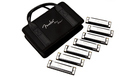 FENDER Blues Deluxe Harmonicas 7 Pack + Bag