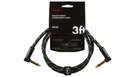 FENDER Deluxe Series Instrument Cable Angle/Angle 90cm Black Tweed