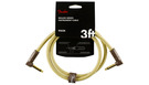 FENDER Deluxe Series Instrument Cable Angle/Angle 90cm Tweed