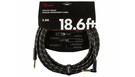 FENDER Deluxe Series Instrument Cable Straight/Angled 5.5m Black Tweed