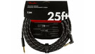 FENDER Deluxe Series Instrument Cable Straight/Angled 7.5m Black Tweed