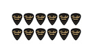 FENDER 351 Shape Premium Picks Medium - Black (12 Count)