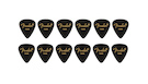 FENDER 351 Shape Premium Picks Thin - Black (12 Count)