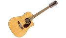 FENDER CD140SCE-12 Dreadnought Natural with Case