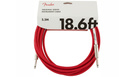 FENDER Original Series Instrument Cable 5.5m Fiesta Red