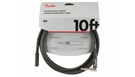 FENDER Professional Series Instrument Cable Straight/Angle 3m Black