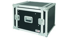 "Flight Case 8U Rack 19"" C/Supp. Mixer Inclinabile"