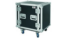"Flight Case Professionale 12 unità rack 19"" con ruote"