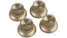 GIBSON Top Hat Knobs w/ Gold Metal Insert 4-Pack (Gold)