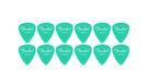 FENDER Pack 12 Plettri California Clear Heavy Surf Green