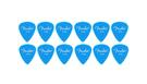 FENDER Pack 12 Plettri California Clear Thin Lake Placid Blue