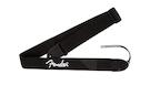 FENDER Black Polyester Strap White Logo
