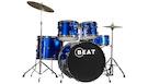 Batteria Acustica Blue con Piatti e Sgabello