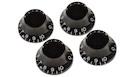 GIBSON Top Hat Knobs Copripotenziometri Black (confezione da 4)