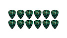 FENDER 351 Shape Premium Picks Medium - Green Moto (12 pcs)