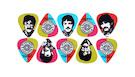 D'ADDARIO Beatles Signatures Pepper Picks Set (10 plettri)
