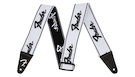 FENDER Weighless Strap Running Logo White/Black
