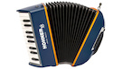 HOHNER XS Accordion Blu/Orange w/Gigbag