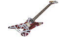 EVH Striped Series Shark PF Burgundy w/Silver Stripes