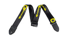 CHARVEL Logo Straps Black with Yellow Logo