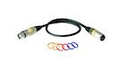 ROCKBAG RCL 30351 D7 Microphone Cable XLR(F) / XLR(M) Code Rings 1m
