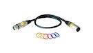 ROCKBAG RCL 30351 D6 Microphone Cable XLR(F) / XLR(M) Code Rings 1m