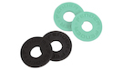 FENDER Strap Blocks 4 Pack (2 Black/2 Surf Green)