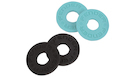 FENDER Strap Blocks 4 Pack (2 Black/2 Daphne Blue)