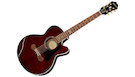 EPIPHONE EJ-200SCE Coupe Wine Red