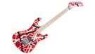 EVH Striped Series 5150 MN Red with Black and White Stripes