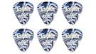TAYLOR Darktone 351 Thermex Ultra Blue Swirl Guitar Picks 1.0mm (6-pack)