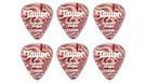 TAYLOR Darktone 351 Thermex Ultra Ruby Swirl Guitar Picks 1.25mm (6-pack)