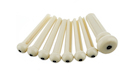 FENDER Acoustic Bridge Pin Sets Ivory with Black Dot
