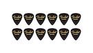 FENDER 351 Shape Premium Picks Medium - Black (12 Count)