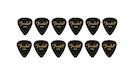 FENDER 351 Shape Premium Picks Thin - Black (12 Count)