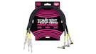ERNIE BALL 6076 Patch Cable Black 1.5' (3-pack)
