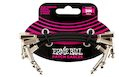 "ERNIE BALL 6220 Flat Ribbon Patch Cable 3"" (3-pack)"