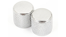 FENDER Telecaster/Precision Bass Knobs Knurled Chrome (2)