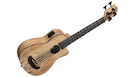 KALA UBASS-SP-MAPL-FS Spalted Maple Acoustic Electric U-Bass with Bag