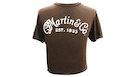 MARTIN 18CM0135L T-Shirt Basic Logo, Heather Brown, L
