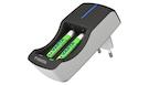 Kit Caricabatterie + 2 batterie ricaricabili 2100mAh