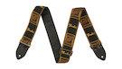 FENDER  Legacy Vintage Monogram Strap BLK/YLW/BRN