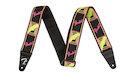 FENDER Neon Monogrammed Strap Yellow/Pink