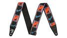 FENDER Neon Monogrammed Strap Blue/Orange