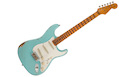 FENDER Custom Shop '57 Stratocaster Relic MN Faded Aged Daphne Blue