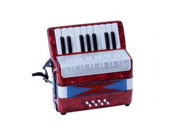 Soundsation mini fisarmonica a tasti rossa strumenti musicali .net