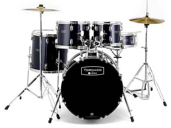 MAPEX Tornado 5294 Pop/Rock Black con Hardware e Piatti